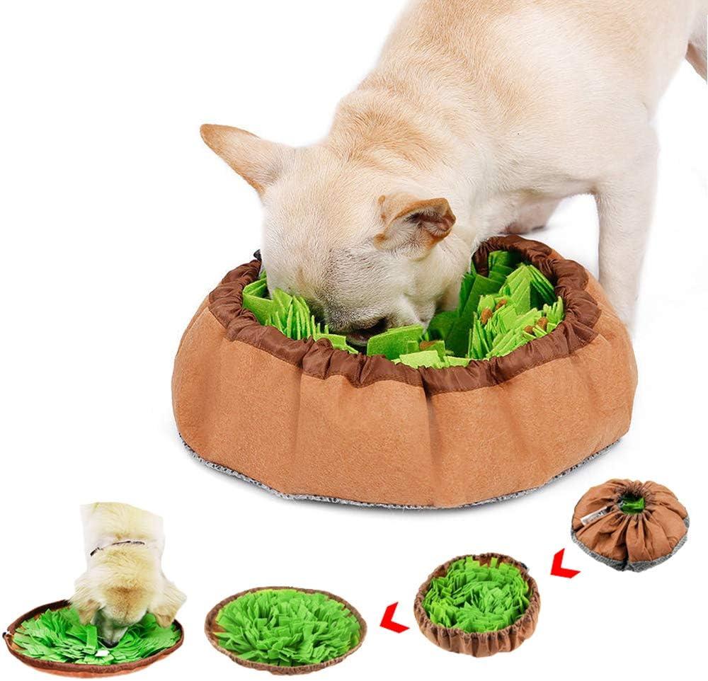 DogLemi Dog Snuffle Mat, Pet Snuffle Mat for Dog, Dog Puzzle Toys Nose Work Training and Encourage Natural Foraging Skills Feeding Mat - Machine Washable