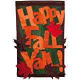 Evergreen 161309 Happy Fall Y'all 2-Sided Garden Flag (8 x 12.5 inches)