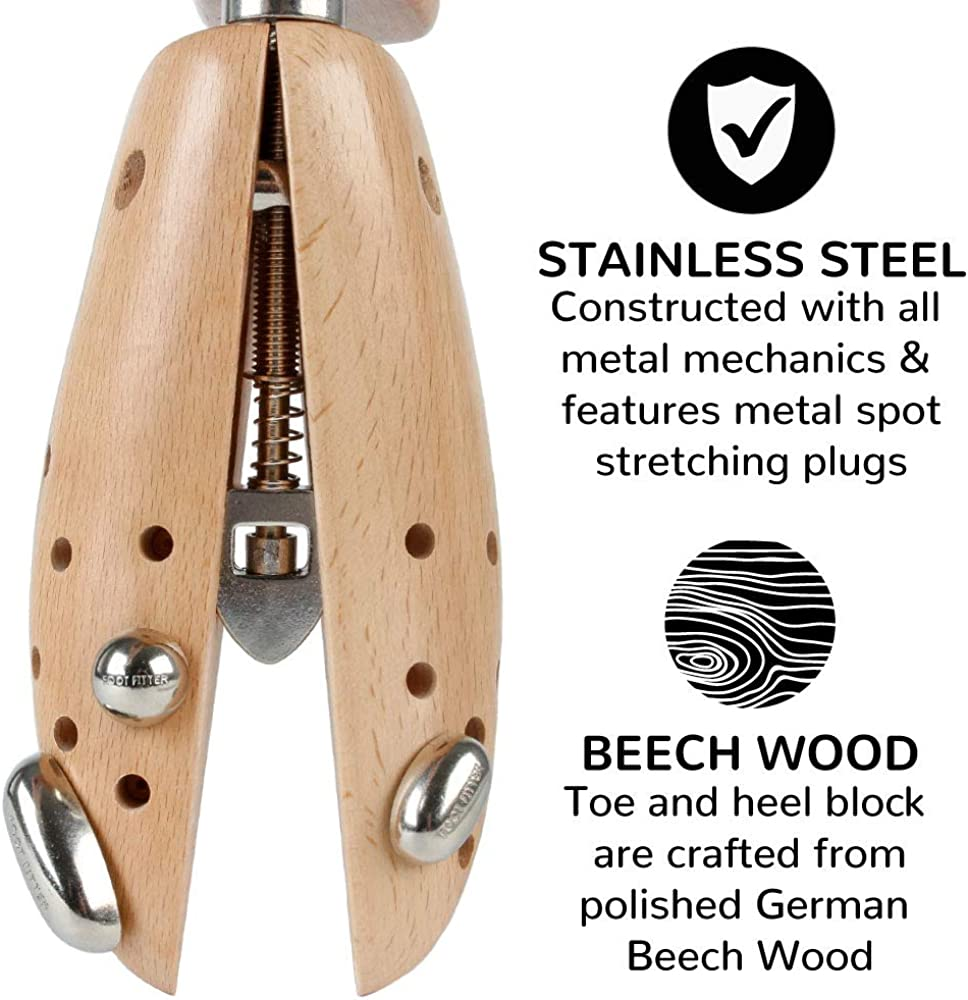 Pair of Shoe Stretchers FootFitter Premium Professional 2 Way Shoe Stretcher Set