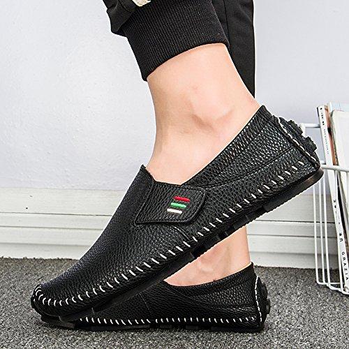 ... Ceyue Chaussures De Conduite Pour Hommes Penny Mocassins Casual En Cuir  Mocassin Cousu Chaussures Noir   3aa5e548a9b5