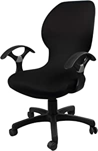UE STORE One Piece Office Chair Cover Desk Chair Slipover Cover Spandex Stretch Fabric