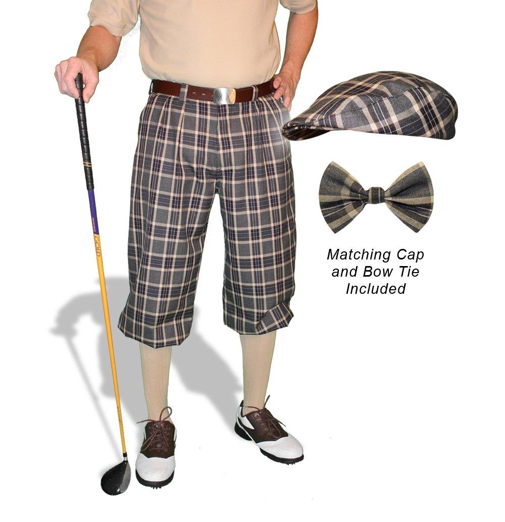 格子柄ゴルフKnickers &キャップ:メンズ' Par 5 ' – Carolina 36  B01F7G550G
