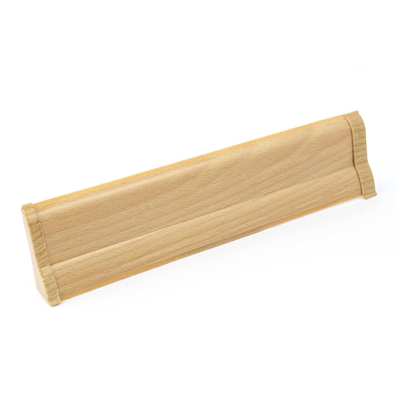 2,5m SOCKELLEISTEN 62mm BUCHE Fussleisten aus Kunststoff PVC Laminat Dekore