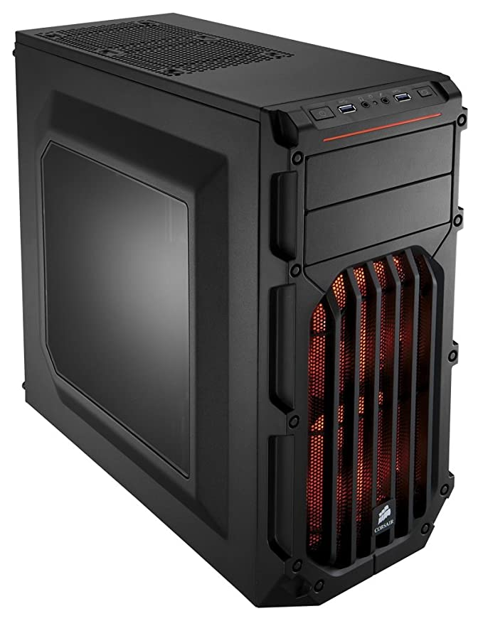 150 opinioni per Corsair CC-9011054-WW Case da Gaming, Mid Tower Spec-03, Nero/Arancione
