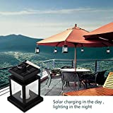 GMFive Pack of 2 Waterproof Solar Powered Hanging Umbrella Lantern Portable Led Candle Lights with Clamp for Beach Umbrella Tree Pavilion Garden Yard Lawn Camping etc. Lighting & Decoration (Black)