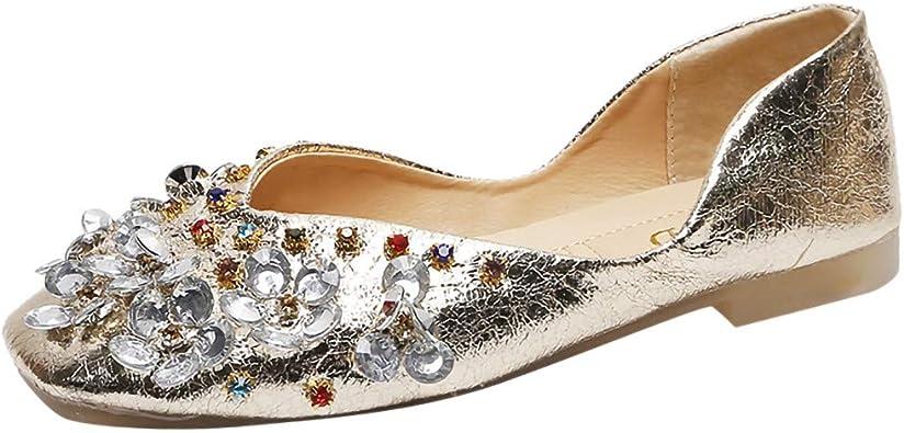 Femmes occasion spéciale chaussures ballerine escarpins mariage strass plat soirée