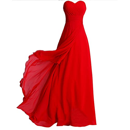 FAIRY COUPLE Chiffon Strapless Bridesmaids Dress D0072