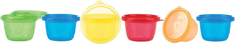 Nuby ID91161A - Pack 6 vasos para congelador en bolsa, 120 ml, 3+ m