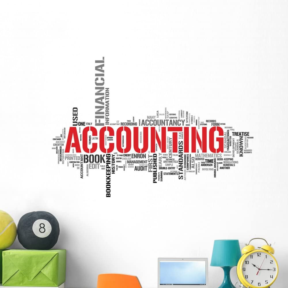 Wallmonkeys Accounting Tag Cloud Wall Decal Peel and Stick Graphic WM31297 (48 in W x 43 in H)