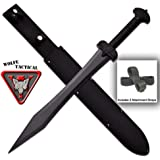 Tactical Greek Xiphos Short Sword with Sheath and 2 Attachment Straps