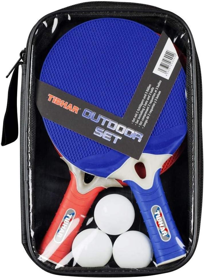 Tibhar - Set de tenis de mesa (2 palas y 3 pelotas)