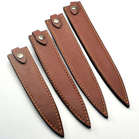 Cubiertas de piel para cuchillos de chef, fundas protectoras ...