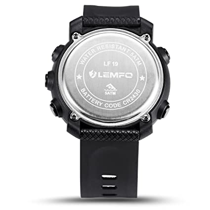 Amazon.com: LEMFO LF19 Smart Watch IP68 Waterproof 5ATM Call SMS Notification Sport Smartwatch for Men with LED Backlight -- Black: Cell Phones & ...
