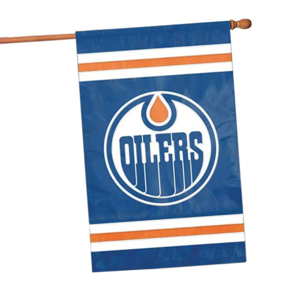 Edmonton Oilers Two Sided Embroidered Nylon House Flag