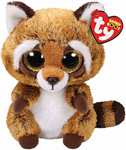 Alaska Stuffed Animals, Amazon Com Ty Beanie Boo 6 Rusty The Raccoon Plush Toy Free Gift With Purchase Toys Games