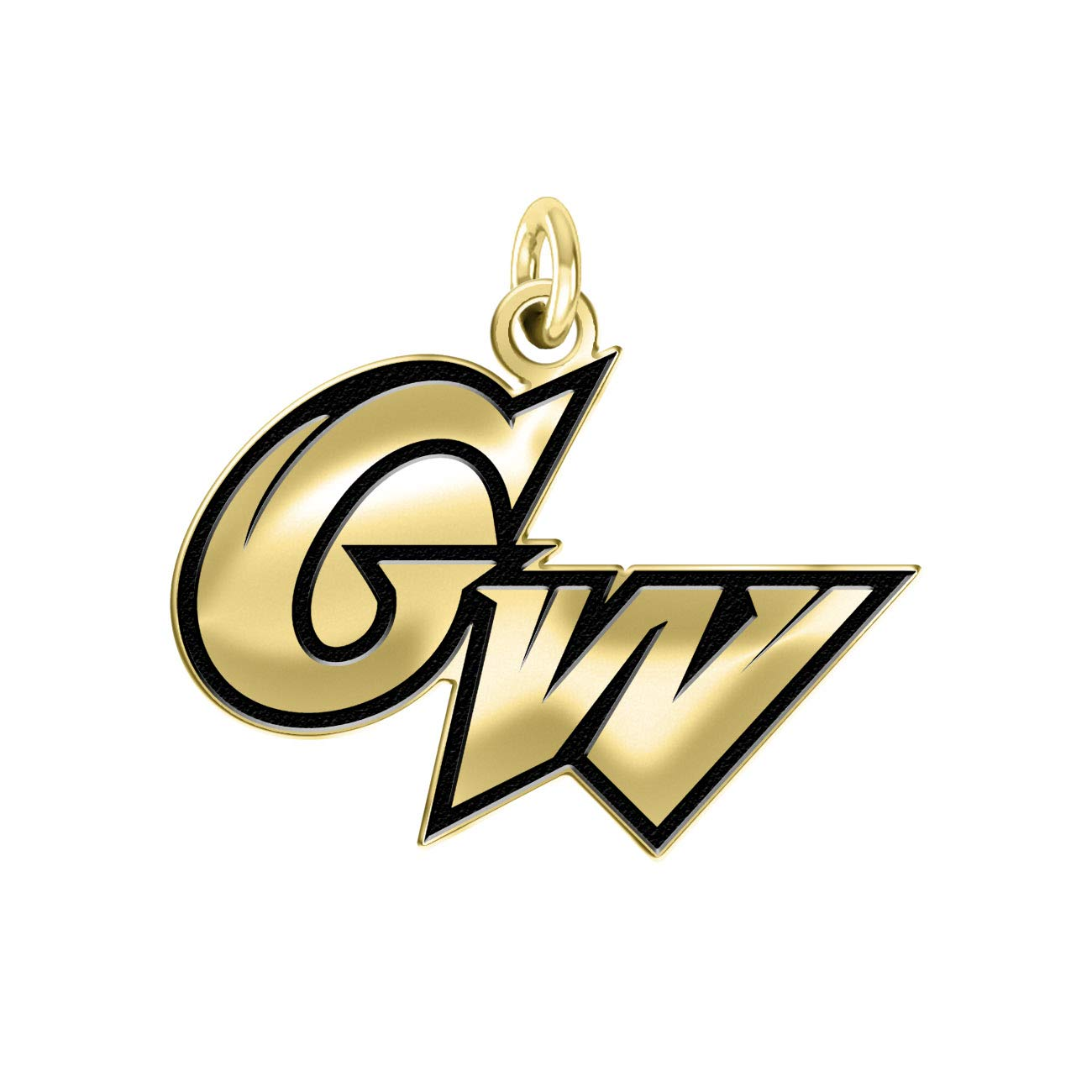 George Washington Colonials 14k Yellow Gold Cut Out Logo College Charm (1/2'')