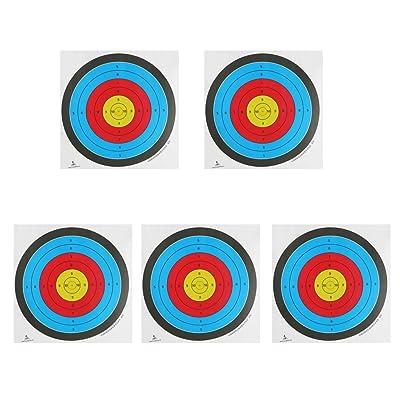 5x Objetivo Tiro Con Arco Se Enfrenta Papel Grueso Calibre Para Arco Recurvo Ballesta - Blanco, 60 * 60cm: Juguetes y juegos