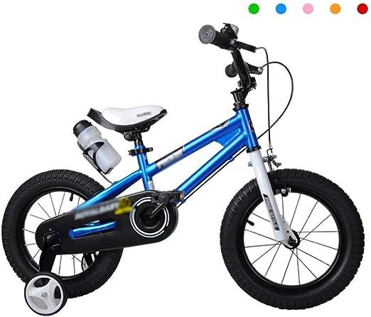 DYFYMXBicicleta niño Bicicleta de Pedal Bebé Ciclista niña 2-3-6-8 años Cochecito de niño Bicicleta Infantil tamaño 12
