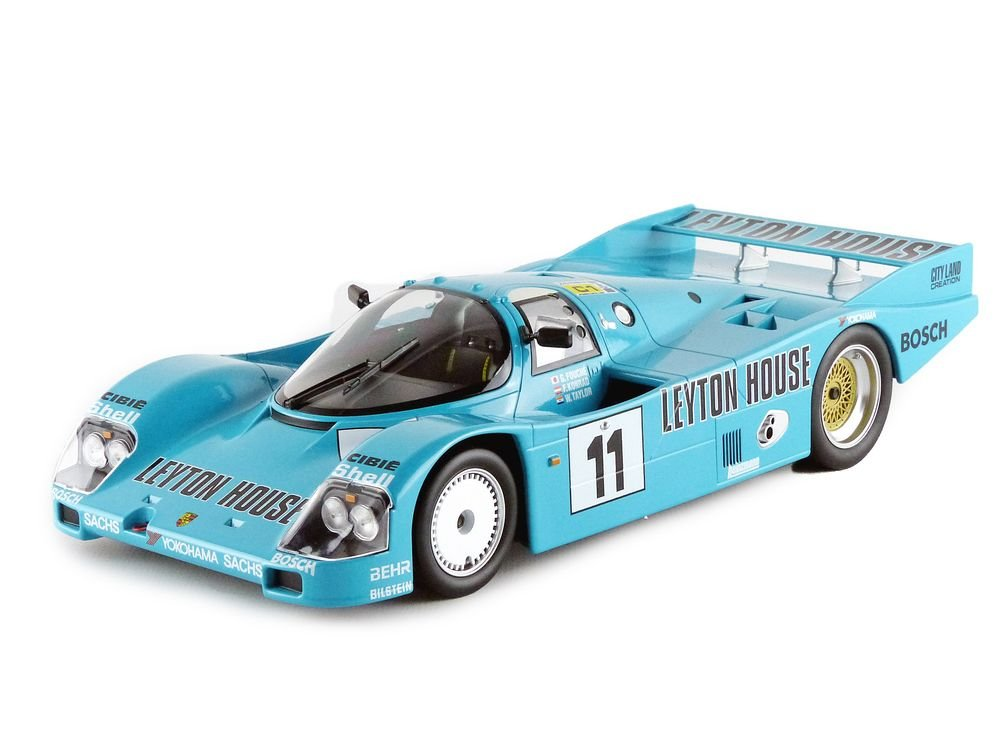Norev – 187405 – Porsche 962 C – Le Mans 1987 – Leyton House – Escala 1/18 – Turquesa