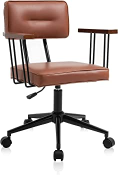 Yamasoro Vintage Mid Back Home Office Desk Chair