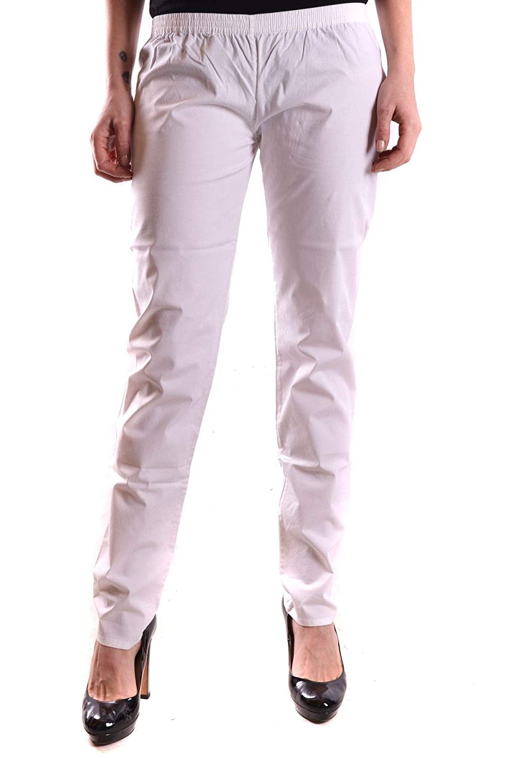TwinSet Women's MCBI22596 White Cotton Pants
