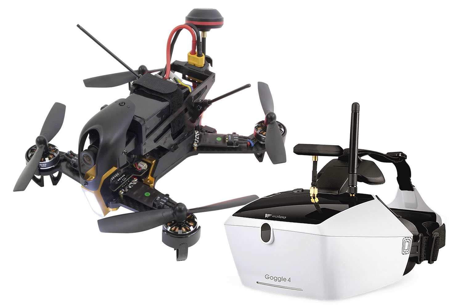 Venta barata Xciterc xciterc FPV Racing de cuadricóptero F210 RTF – – – FPV de dron con Sony Cámara HD, OSD, gafas de vídeo, V4, batería, cargador y DEVO 7  compras online de deportes