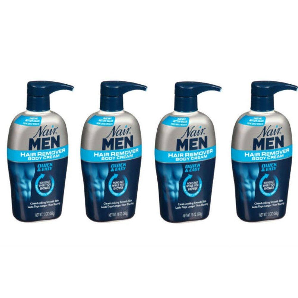 Buy 4 Pack Nair Men Hair Removal Body Cream 13 Oz 368 G Each