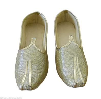 Kalra Creations Men Shoes Sherwani Mojaries Khussa Indian Handmade Flip-Flops 6 M