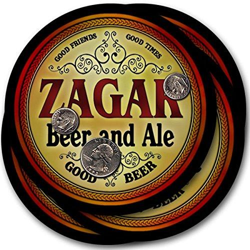 Zagarビール& Ale – 4パックドリンクコースター   B003QXSRWG