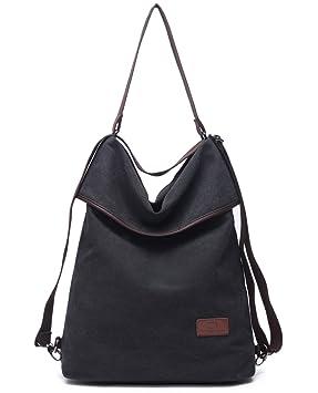 1da13c24904ec Travistar Canvas Tasche Damen Rucksack Handtasche Damen Vintage  Umhängentasche Anti Diebstahl Tasche Hobo Tasche für Alltag