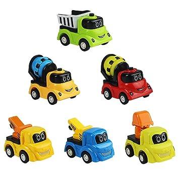 Coche Para Niños Gruas Camión Camiones Excavadora Juguetes Hormigonera Vehiculos Construcciones Con 6pcs Volquete f7b6gvYy