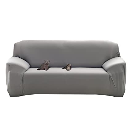 Amazoncom Mobo Grey Sofa Cover 1 Piece Slipcover For 57 72