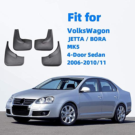 BTSDLXX 4 Pcs Set Car Mud Flaps for VW Jetta Mk5 A5 Bora 2006-2010 ...