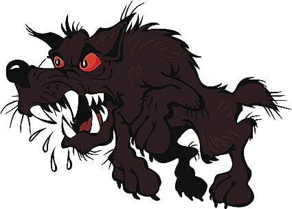 Amazon Com Scary Creepy Halloween Rabid Werewolf Dog Cartoon