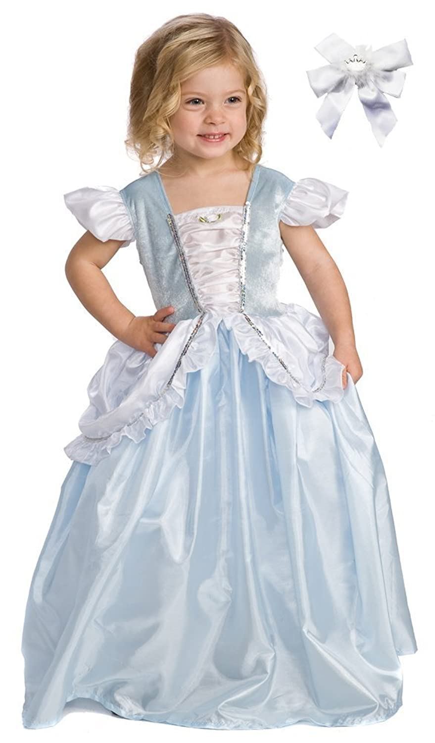Amazon Little Adventures 11153 Cinderella Princess Costume Ages 5 7 Free Hair Bow Toys Games