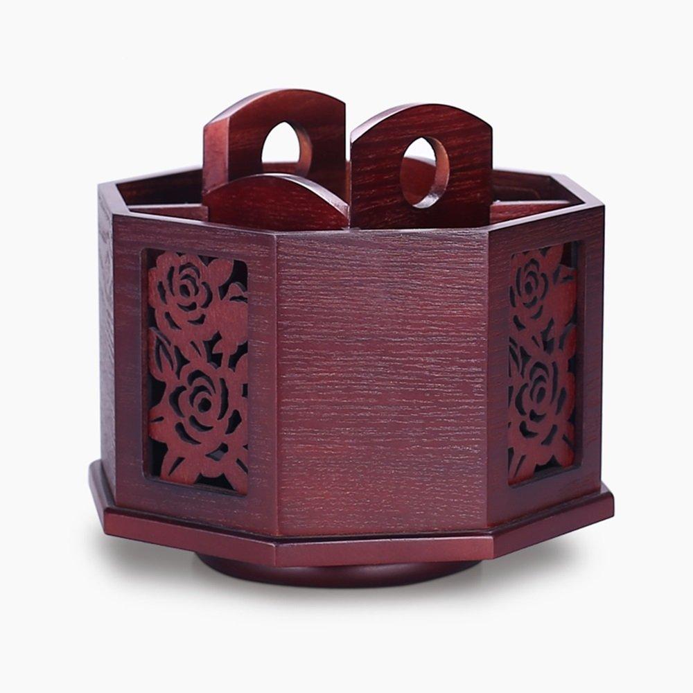 収納ボックス ヨーロッパスタイルの木製のストレージボックス仕上げデスクトップストレージボックスシート (色 : ワインレッド) B07MT7BD53 ワインレッド