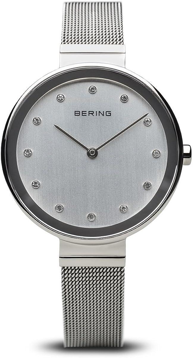 BERING Reloj Analógico para Mujer de Cuarzo con Correa en Acero Inoxidable 12034-000