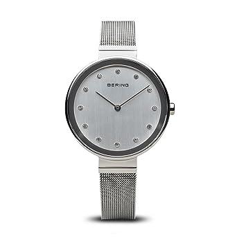 BERING Reloj Analógico para Mujer de Cuarzo con Correa en Acero Inoxidable 12034-000: Amazon.es: Relojes