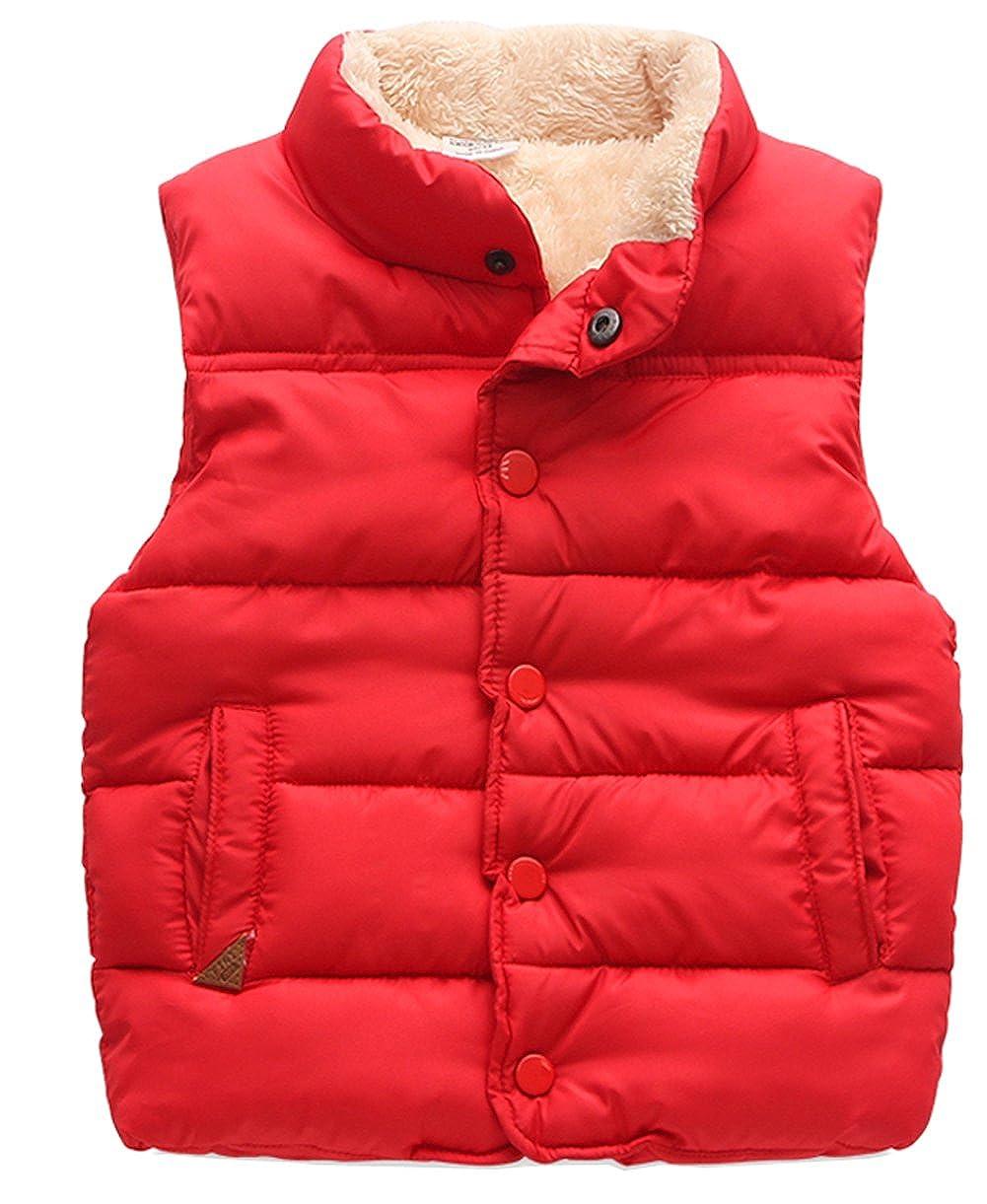 Kedera Baby Packable Stand Collar Puffer Down Vest Sleeveless Lightweight Jacket