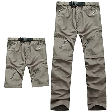 dc97507e1037a Image Unavailable. Image not available for. Color  Evere Men Mountain Pants Convertible  Lightweight Outdoor Sports Quick Dry ...
