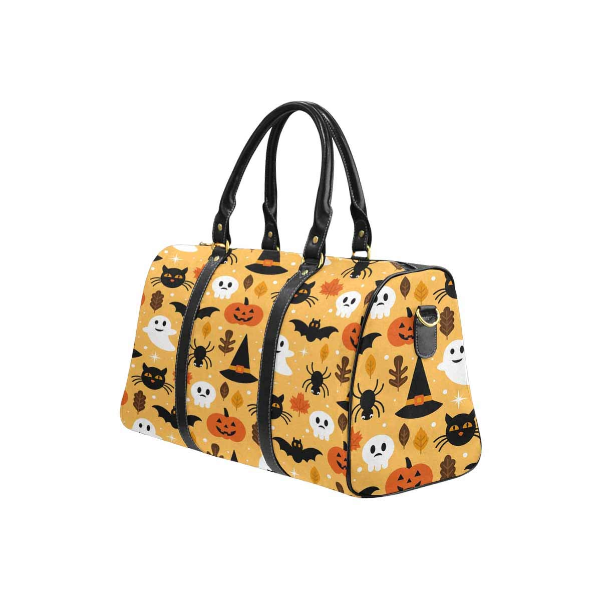 InterestPrint Unisex Duffel Bag Carry-on Bag Overnight Bag Weekender Bag Cute Watercolor Elephants