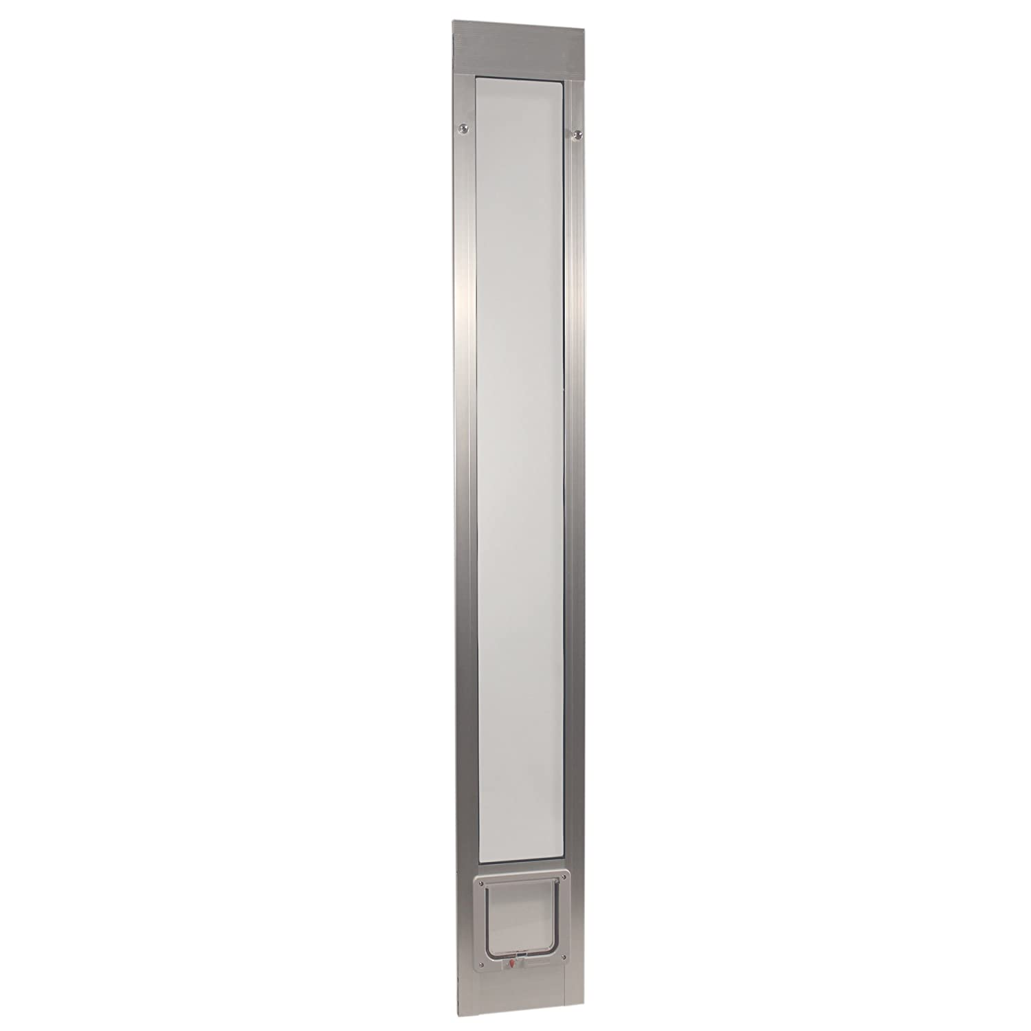 Mill Silver Cat Flap 6.25\ Mill Silver Cat Flap 6.25\ Ideal Pet Products 96PATCFM 96  Fast Fit Aluminum Pet Patio Door with Flap Mill, Small 6.25  x 6.25 , Silver