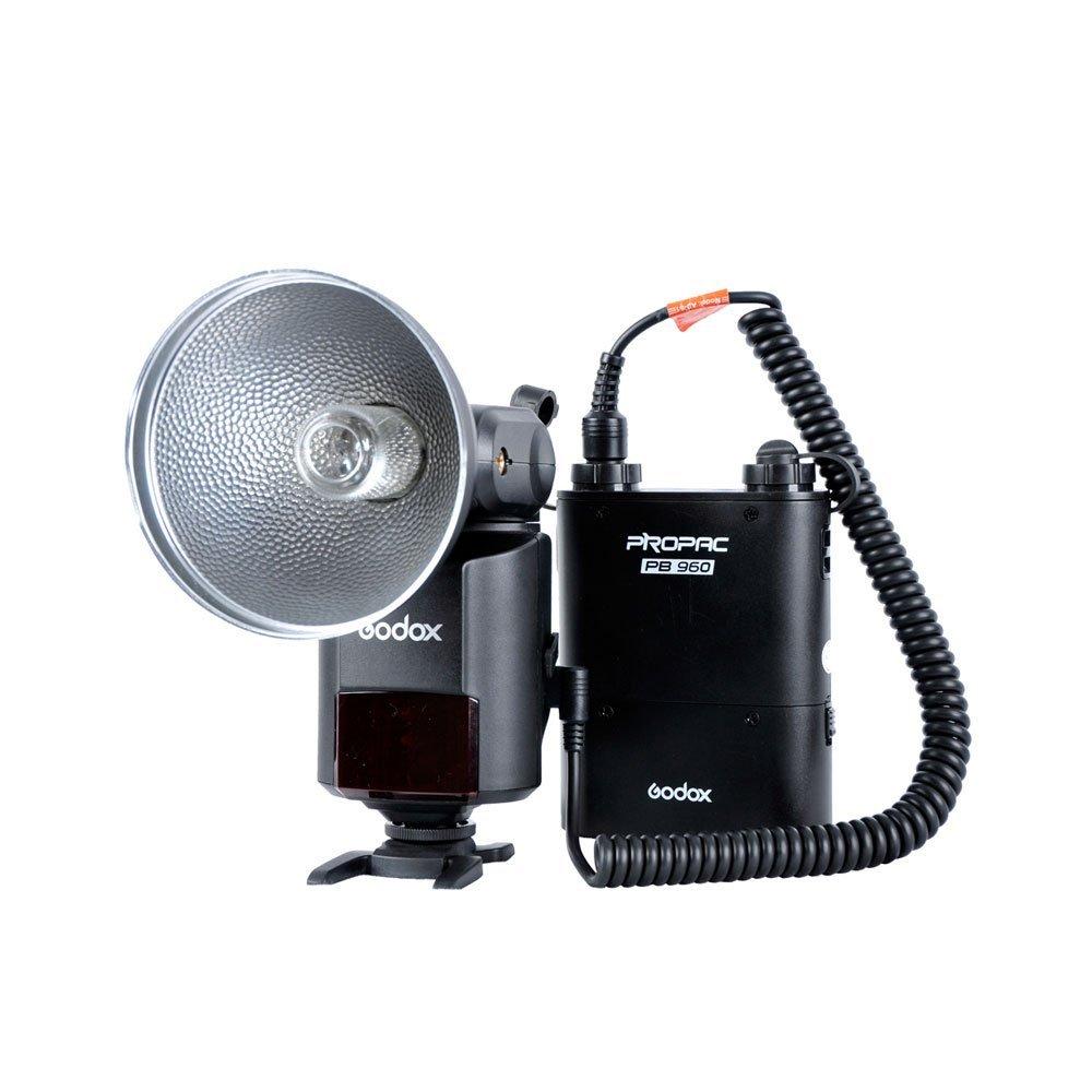 Godox Witstro AD-360 Bare Tube Flash Speedlite + PB960 Battery Power Pack Black
