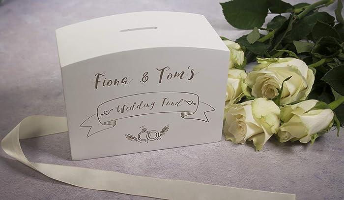 Money & Savings Box - wedding fund, engraved money box, weddings ...