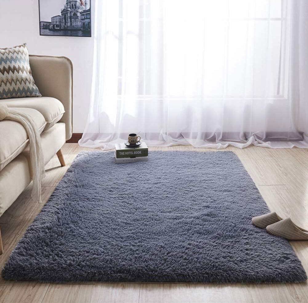 YOH UItra Soft Area Rugs Fluffy Gray Carpet Children Kids Room Girls  Bedroom Living Room Home Decor Nursery Rugs 4\'x 5.3\'