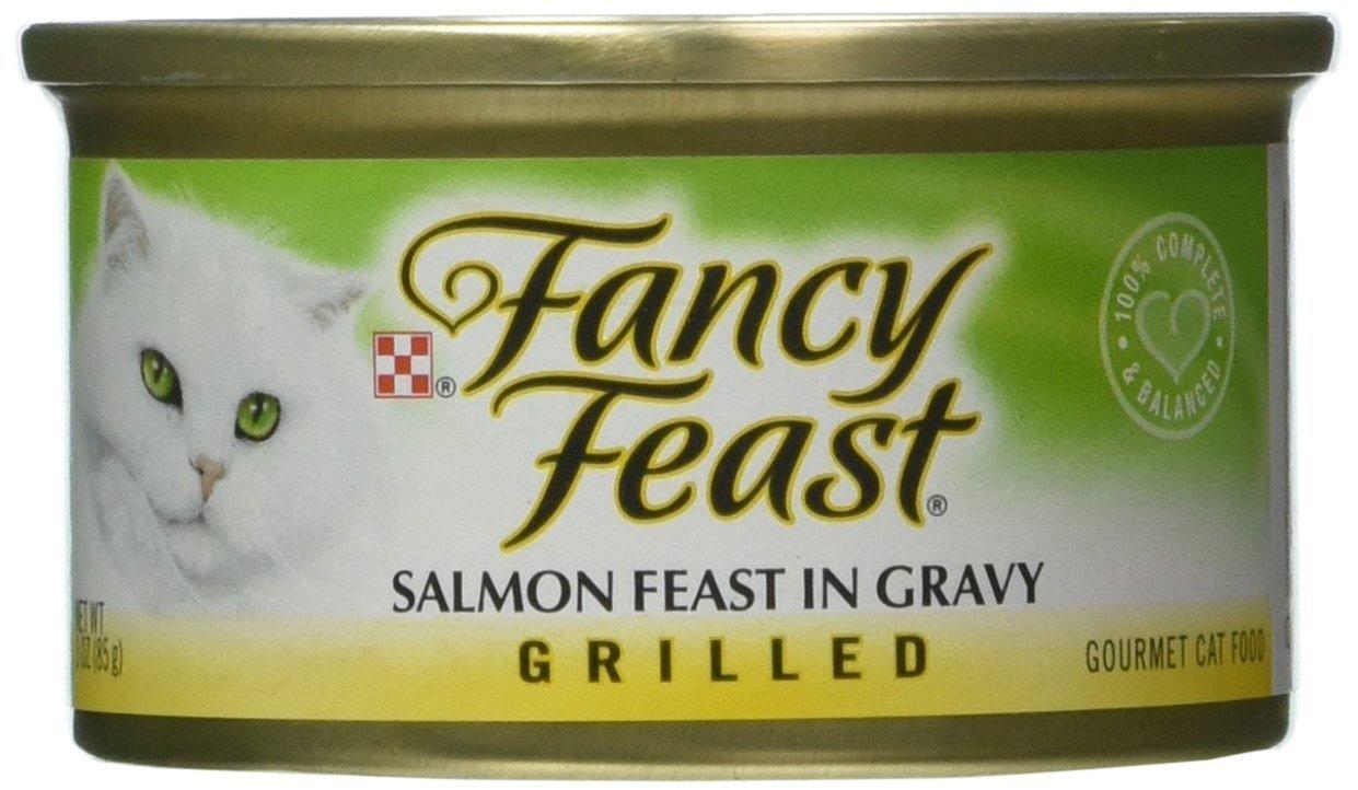 Grilled Salmon Feast in Gravy Wet Cat Food (3-oz can,case of 24) by Fancy Feast