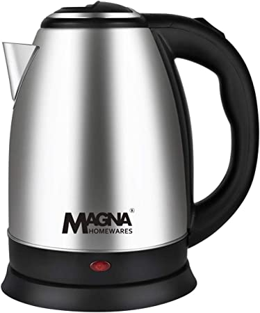 Magna Homewares MAG-1803 1.8Ltr 1500W Cordless Stainless Steel Electric Kettle Kettle and Toaster Sets at amazon