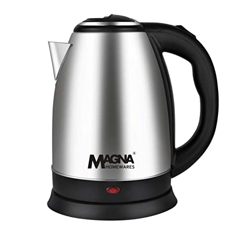 Magna Homewares MAG-1803 1.8Ltr 1500W Cordless Stainless Steel Electric Kettle with 1 Year Replacement Warranty Kettles at amazon