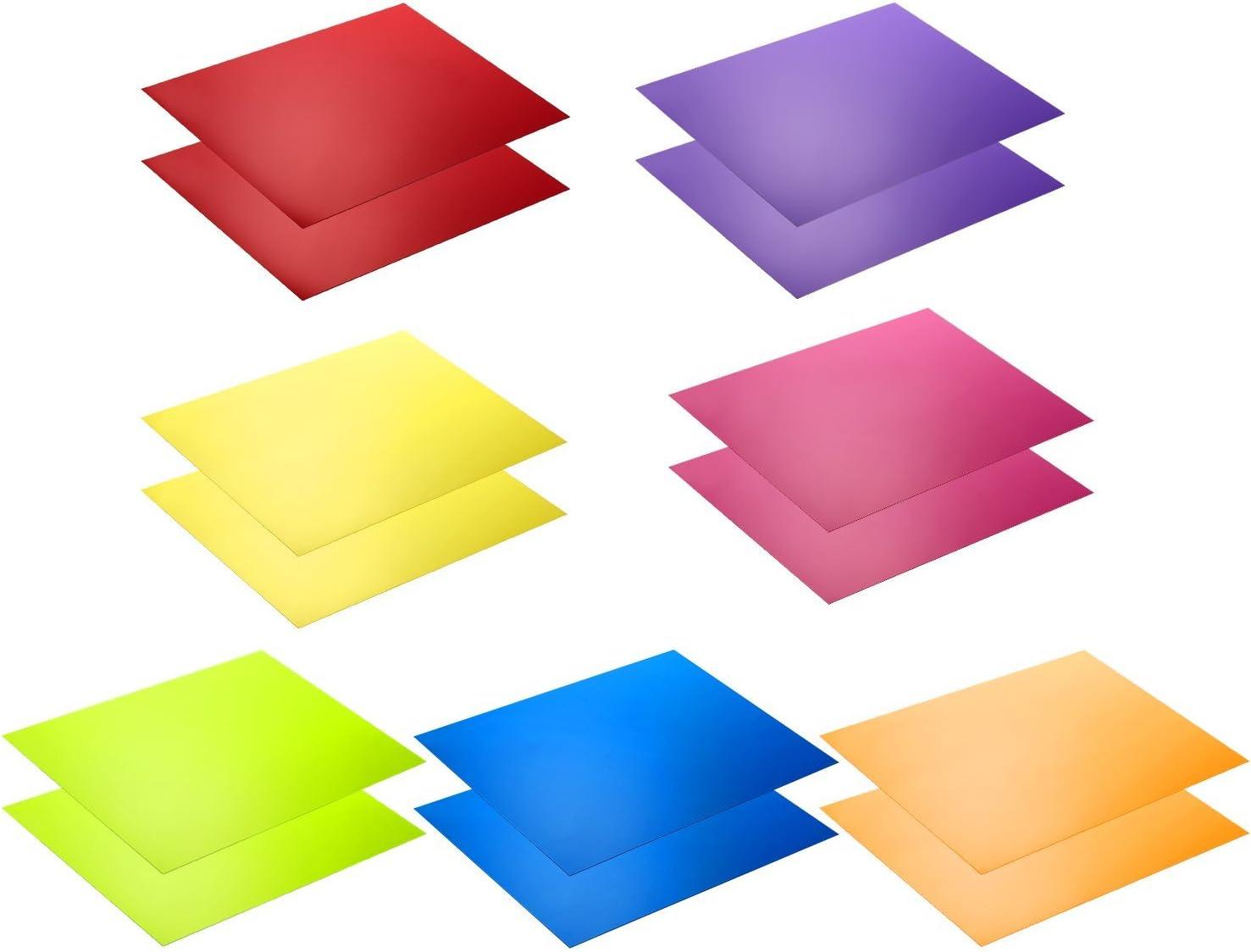 Neewer Kit de 14 piezas Filtro de Gel de Iluminación con 7 Colores Diferentes - 28 x 22 cm Lámina de Corrección de Color Transparente Láminas Plásticas de Película