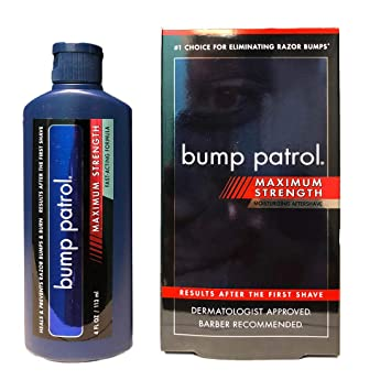 Bump Patrol Maximum Strength Aftershave Formula - After Shave Solution  Eliminates Razor Bumps and